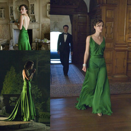 Keira Knightley Atonement Evening Dress Chiffon Backless Floor Length Long Special Occasion Dresse Celebrity Party Gown