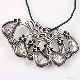 Wholesale Hot Sale Hollow Dots Embed Bowknot Basket Shape Antique Silver Alloy Charms Fit Jewelry DIY mm