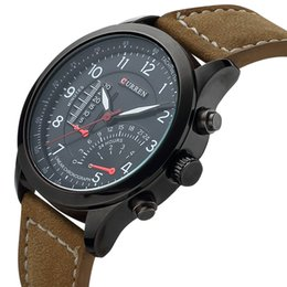 Wholesale Casual Sports Watches CURREN Men s Quartz Watches Top Brand Luxury Men Wristwatches Men Military Leather Relogio Masculino