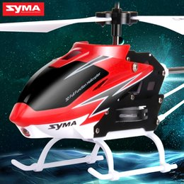 Wholesale SYMA S5 N CH GHz Little RC Helicopter Aluminium Alloy Defensive Remote Control Copter Model Toy for Children
