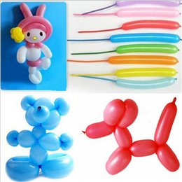 Wholesale 500Pcs Long strip Shape balloon Latex Balloon Party Holiday Decoration Ballons Colorful toys for children