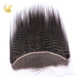 Wholesale Kinky Straight Lace Frontal Closure Virgin Unprocessed Top Lace Closure Piece High Quality Cheap Lace Hair Accessories UK KS