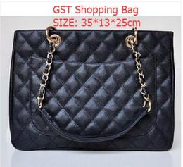Wholesale 20995 Caviar GST bag Shopping Bag Large Shopping Tote with Gold Hardware Sholder Bag Handbags Totes