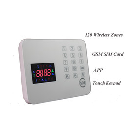 Wholesale 120 Zones touch screen house burglar wireless system security alarm keypad door intruder sensor best products for personal security