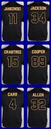Wholesale 2016 Pro Line Black Gold Collection jerseys Janikowski Jackson Crabtree Cooper Carr Allen Drop Shipping Cheap Top Quality