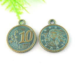 20pcs Antique Bronze Coin Charm Pendant Jewellry Finding 23*20*2mm jewelry making