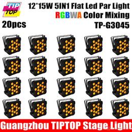 Wholesale 20 Pack W RGBWA Single Color Stage Light Slim Led Par Cans Channels DMX Control CE ROHS Iron Case TP G3045 IN1