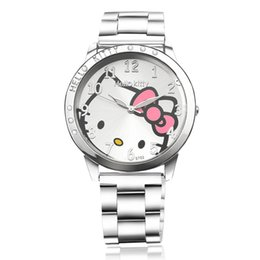 Wholesale Hello kit lady watch with kids quartz movement for the child