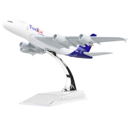 New hot sale 1:400 FEDEX Airbus 380 federal 16cm alloy metal model aircraft child Birthday gift plane models chiristmas gift