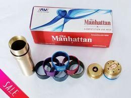 Acheter en ligne V2 fuhattan-AV Manhattan Mod 24mm diamètre 18650 Batterie Ringer Mod mécanique avec batterie 18650 VS Fuhattan V2 mod apollo mod