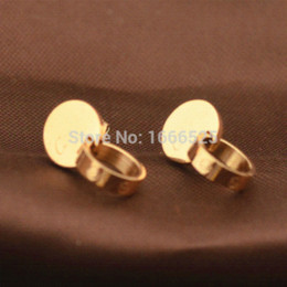 Rround Splice Annulus Screw Nail Drop Earrings Jewelry Women , Rose Gold Filled Charms stainless steel unicorn earring hx-080