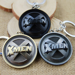 Wholesale Hot Super Hero X Men Keychain X Men Key Chains Pendant Charms Keyring Souvenirs Anime Movie Series Jewelry Accessories Gift