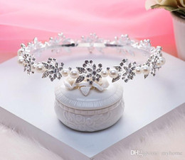 Best Selling The bride Round luxury wedding crown The female crowns car model stage brides Tiaras Hair Accessories