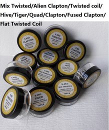 premade coils Flat twisted wire Fused clapton coils Hive prebuilt twisted coil Alien Mix twisted Quad Tiger Heating Resistance RDA RBA coils