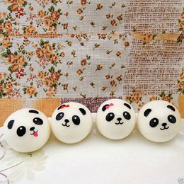 Wholesale 20 Cute cm Panda Squishy Kawaii Buns Bread Charms Bag Key Cell Phone Straps Pair Random Soft Panda Squishy Bread Semll