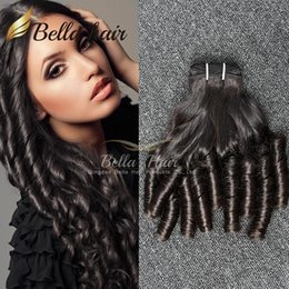 7A Brazilian Hair Funmi Hair Black Color Loose Wave Wavy Bouncy Spring Curl Hair Extensions 3pcs lot Free Shipping Bella Hair Factory