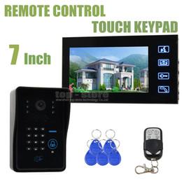 Video Doorbell Door Remote Control 7inch LCD Video Intercom System With Code Password Keypad RFID Reader 4 in 1 IR Camera