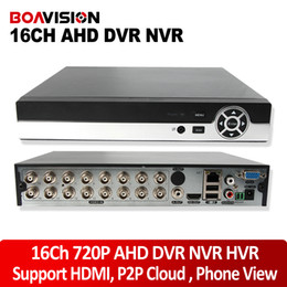 Wholesale 16CH CCTV AHD DVR AHD M AHD L Hybrid DVR P NVR Supports in1 Video Recorder For AHD Camera IP Camera Analog Camera P2P Cloud
