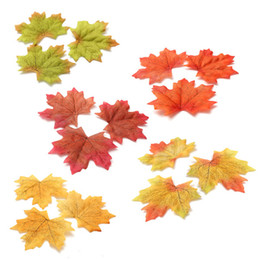 Wholesale 1000Pcs Multicolor Artidicial Cloth Maple Leaves Autumn Fall Leaf Art Scrapbooking Wedding Bedroom Wall Party Decor Craft