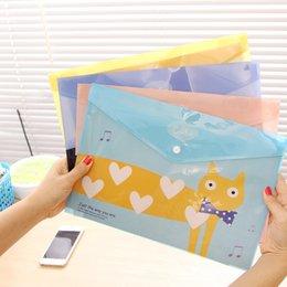 Wholesale Cute Office A4 Files Bag cat School Test PVC A4 Documents Folder Stationery Filing bag set