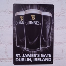 Wholesale GUINNESS Beer Picture Metal Tin Signs Home Pub Bar Wall Decor