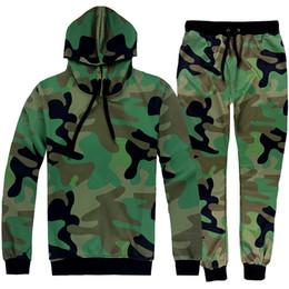 Wholesale Fashion Camouflage Hooded Sweatshirts spring Autumn long sleeve BDU Camouflage suit sports suit womens tracksuits uniform women s set