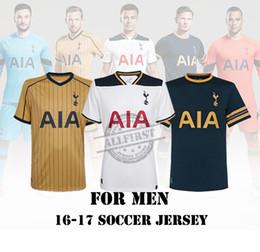 Wholesale 16 Hotspurs Soccer Jersey Men Thail Quality KANE SON JANSSEN LAMELA ERIKSEN etc Home Away Soccer Jerseys