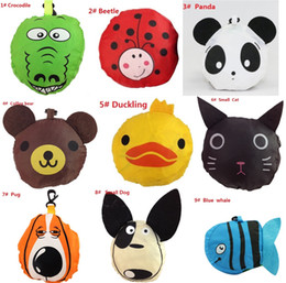 Wholesale Hot sale styles New Cute Useful Animal Bee Panda Pig Dog Rabbit Foldable Eco Reusable bag Shopping Bags A0136