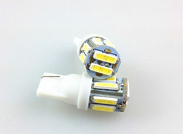 wholesale 10pcs lot car Side Wedge Tail LED Lamp T10 7020 SMD WHITE LAMP W5W 194 10 LED 12V 5W White Clearance Light Bulbs
