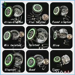 Online hot sale resisitant wire heating coil box mod ecig kit prebuilt Coil for DIY ecigs atomizers wholesale free shipping