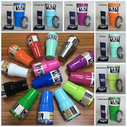 Wholesale 20 Colors Yeti Cups Rambler Tumbler Cup White Black Pink Orange Blue Purple Gold oz Yeti Stainless Steel Mug Fast DHL
