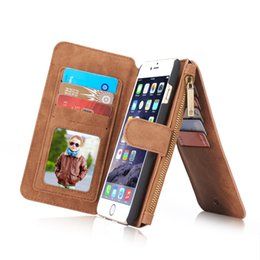 Luxury Great Leather Phone Cases For iPhone X 8 7 6 5s Plus With Zipper Wallet Card Multifunction Phone Back Covers