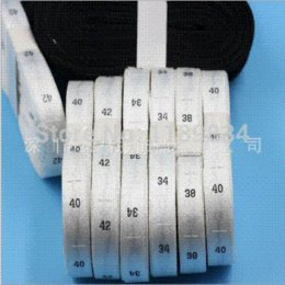 Free shipping 1000pcs roll garment size label clothing woven tags number tags size tags embroidered size labels LB-021