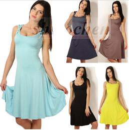 Descuento damas mini vestido vestido Señora Scoop Ball Gown Vestido Moda Tunic Lápiz Vestido Falda Bodycon Vestido Slim Evening Party Vestido Negocios Cóctel Vestidos Casual A915 100