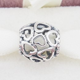 OPEN YOUR HEART CHARM DIY Beads Real Solid 925 Sterling Silver Not Plated Fits Original Pandora Bracelets & Bangles & Necklaces