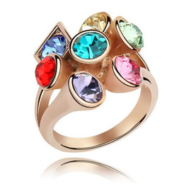 Wedding Rings Wedding Bands High Quality Rose Gold Plated Made With Swarovski Elements Crystal Rings Women Fashion Jewelry 4171