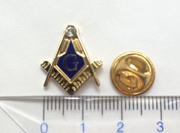 Wholesale 100pcs Factory Free Masonry Masonic Lapel Pin Badge and Brooches for Freemason Gold Plating Butterfly Clutch