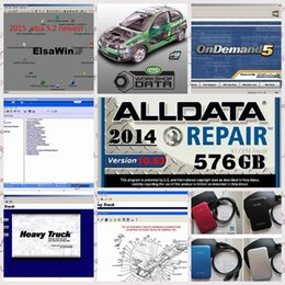 Wholesale 2016 alldata repair software Alldata and Mitchell demand software Vivid Workshop Heavy truck in1 in TB HDD free remote install