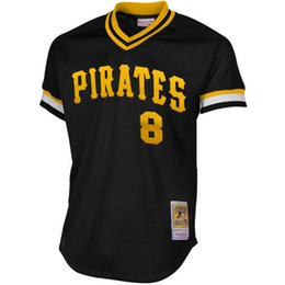 Wholesale Men s Mitchell Ness Willie Stargell Black Pittsburgh Pirates Authentic Cooperstown Collection Mesh Batting Practice Jersey