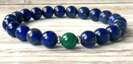 Wholesale SN1045 Fashion Mens Lapis Lazuli Malachite Bracelet Yoga Chakra Mala Beads Bracelet Anxiety Stress Relief Bracelet Emotional Wellness Jewelr