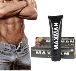 Wholesale 2pcs Super Sex Product Maxman Delay Cream Male Lubricant Penis Enlargement Cream Enlarge Extender Enhancers Cock Cream