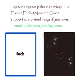 Wholesale 18 French mega EX cards pocket monster toys fiigure proxy board game mtg foil shining support customized image album