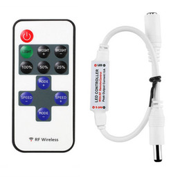 Wholesale Mini Remote Controller for Single Color LED Strip Lights RF Dimmer for V DC LED Light Strips A Wireless Remote Control