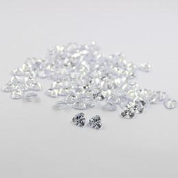 100pcs lot free shipping 3x3mm-8x8mm AAA cubic zirconia white trillion loose gem stones