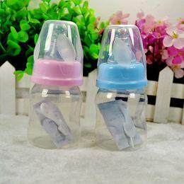 Wholesale Hot sale Cute Nipple Baby bottle Infant Newborn Cup Children Learn Feeding Drinking Handle Bottle kids Straw Juice water Bottles ml