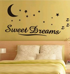 fashionable new sweet dreams english proverb wall sticker for kids of bedroom dining hall living room decoration removable Free shipping