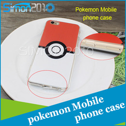 Wholesale Hottest game pokeball cellphone case TPU material red white mix color ball design for iphone5 s s plus s plus