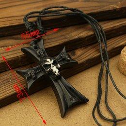 Wholesale 5pcs Yak Bone Necklace Cross Skull Mens Virility Pendant NEW Jewelry Alchemy Jewelry