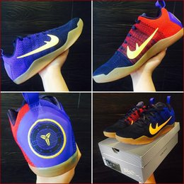 Wholesale With shoes Box Hot Sale KOBE XI FCB Bryant Mambacurial FC Barcelona Men Basketball Sport Sneakers Kids Shoes