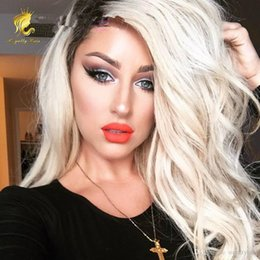 1b 613 Glueless Full Lace Wigs Remy Human Hair with Baby Hair Ombre 1B 613 Dark Roots Blonde for Black Women
